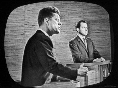 Kennedy og Nixon.