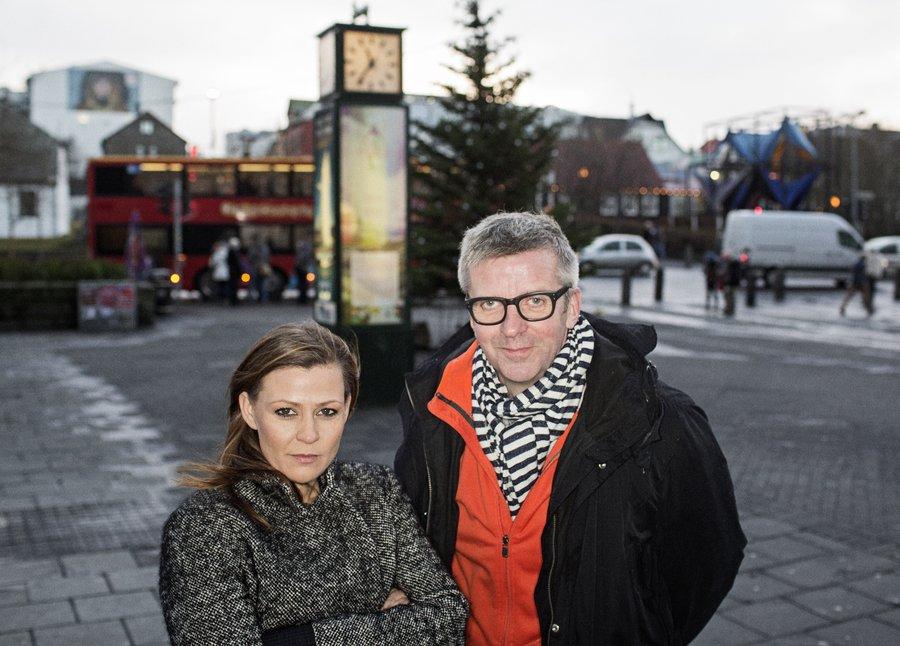 Þóra Tómasdóttir og Gunnar Smári Egilsson ritstýra Fréttatímanum.