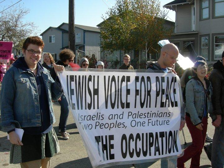 Jewish voice for peace mótmæla í Seattle árið 2007.