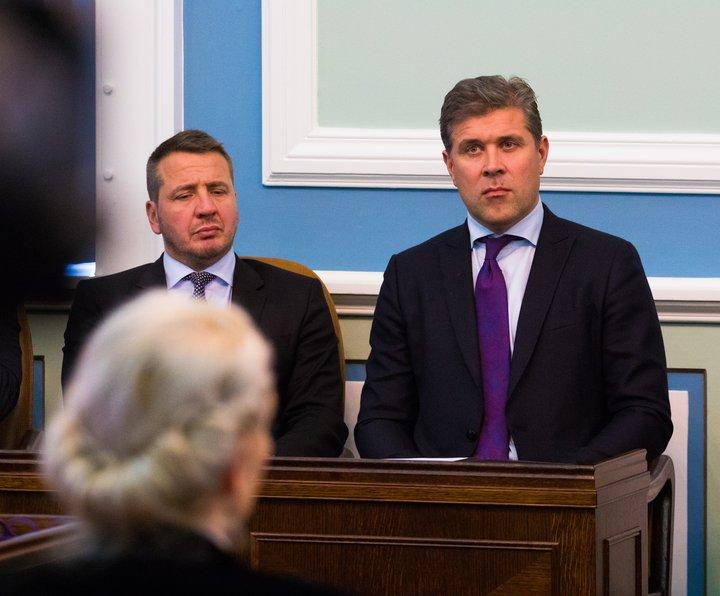 Bjarni Benediktsson forsætisráðherra og Guðlaugur Þór Þórðarson utanríkisráðherra.