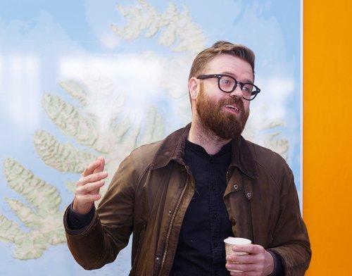 Örn Elías Guðmundsson, betur þekktur sem Mugison, er einn forsprakka hátíðarinnar.