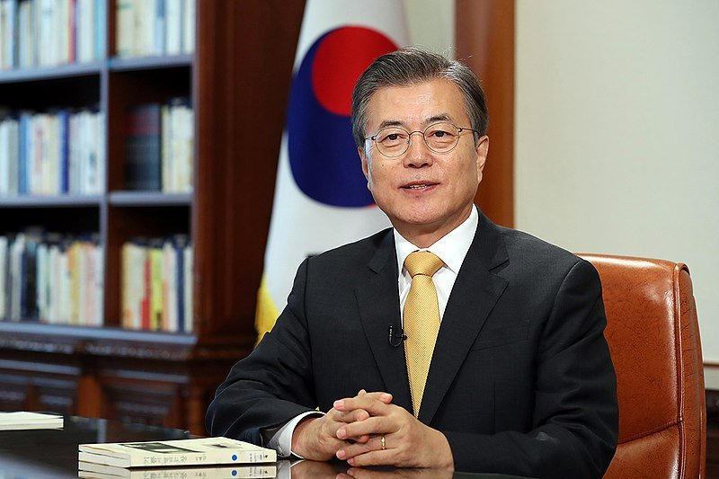 Moon Jae-in Mynd: Wiki Commons