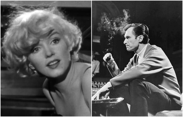 Hugh Hefner keypti gamla nektarmynd af Marilyn Monroe og birti í fyrsta eintaki tímaritsins Playboy án hennar samþykkis. Hann mun nú vera lagður við hlið hennar hinstu hvílu.