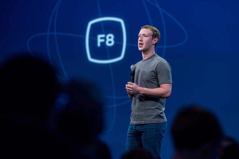 Mark Zuckerberg, stofnandi Facebook, heldur fyrirlestur um ritskoðun efnis á Facebook.