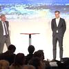 Helge Sigurd Næss-Schmidt, eigandi Copenhagen Economics, og Martin Bo Westh Hansen, yfirhagfræðingur fyrirtækisins, fluttu framsögu á fundinum í morgun.