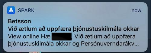 Betsson uppfærir þjónustuskilmálana.