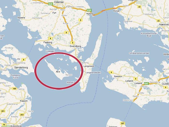 Ærø í Danmörku Mynd: Aeroeisland.com