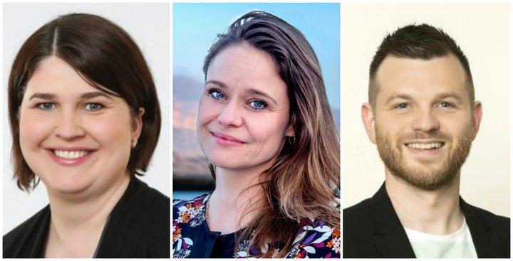Líf, Elín og Þorsteinn leiða lista VG í Reykjavík.