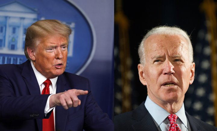 trump og biden collage