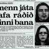 Baksíða Morgunblaðsins 3. febrúar 1977.