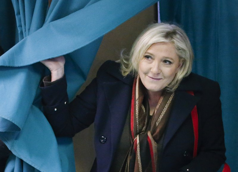 Marine Le Pen sækist eftir því að verða forseti Frakklands. (Mynd: EPA)