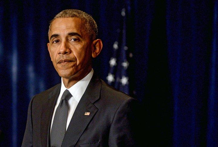 Barack Obama er forseti Bandaríkjanna þar til Donald Trump sver embættiseið í Washington 20. janúar.