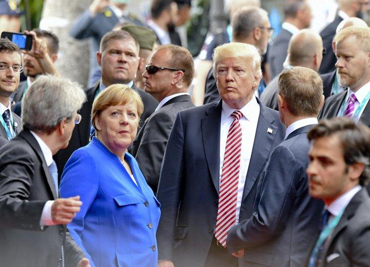 Angela Merkel, kanslari Þýskalands, verður gestgjafi þjóðarleiðtoga í Hamborg í næstu viku.