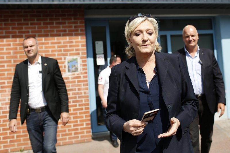 Marine Le Pen, leiðtogi Þjóðfylkingarinnar, náði kjöri í kosningunum.