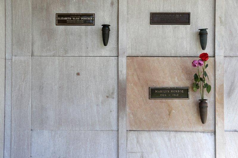 Grafarstæði Marilyn Monroe. Mynd: EPA