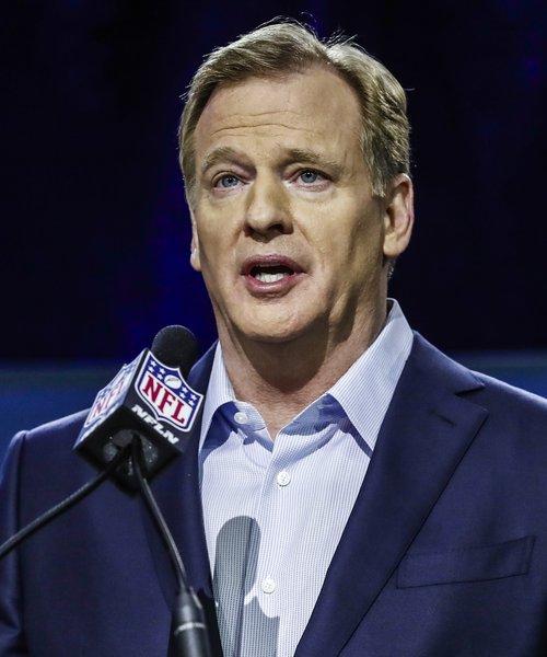 Roger Goodell forseti NFL. Mynd: EPA