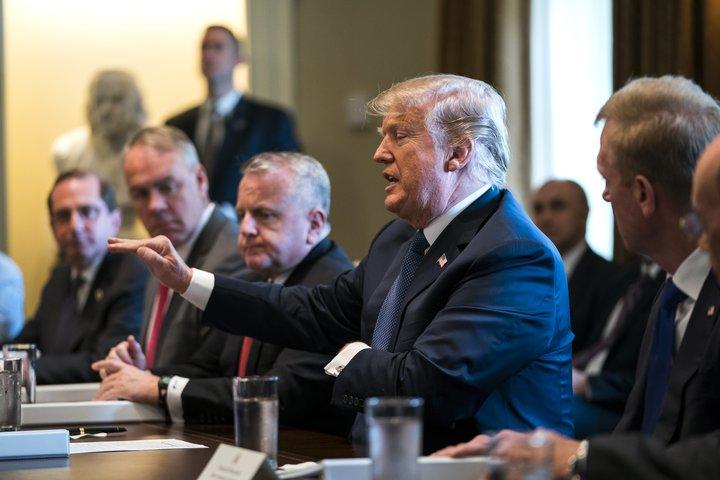 Trump ríkisstjórnarfundur