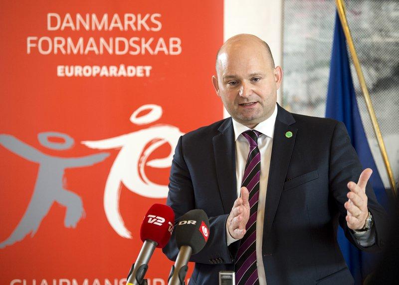 Søren Pape Poulsen, dómsmálaráðherra Danmerkur. Mynd: EPA.