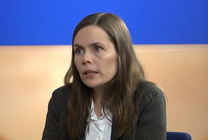 Katrín jakobsdóttir er formaður Vinstri grænna.