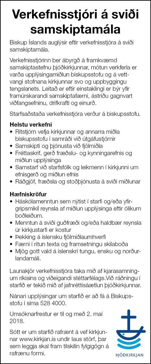 Auglýsing Biskups Íslands
