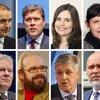 Guðni Th. Jóhannesson forseti Íslands, Bjarni Benediktsson, Katrín Jakobsdóttir, Birgitta Jónsdóttir, Sigurður Ingi Jóhannsson, Óttarr Proppé, Benedikt Jóhannesson, Logi Már Einarsson.