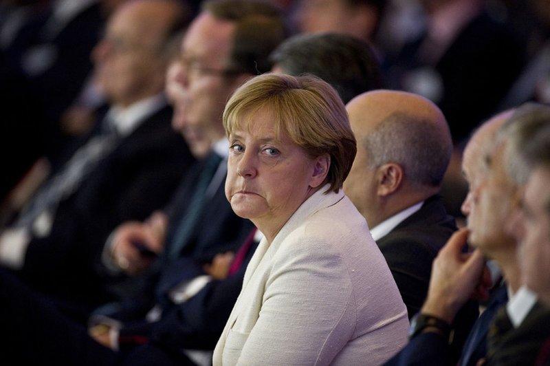Angela Merkel sækist enn eftir því að vera kanslari Þýskalands. (Mynd: EPA)