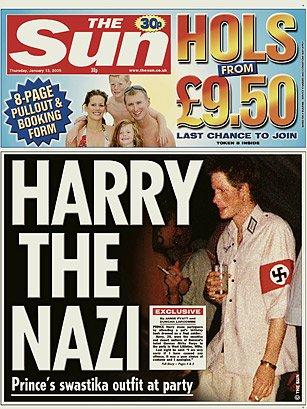 Forsíða The Sun árið 2005.