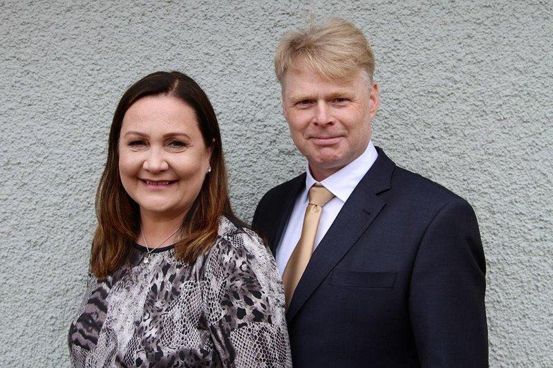 Sturla Jónsson og eiginkona hans, Aldís Erna Helgadóttir.